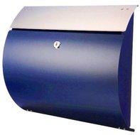 brievenbus wand blauw rvs