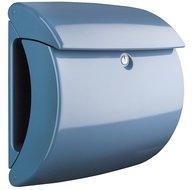 Hoogglans brievenbus licht blauw