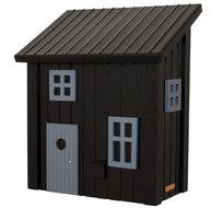 houten brievenbus zweeds posthus zwart