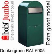 Brievenbus Bobi Jumbo donkergroen RAL 6005