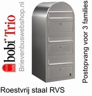 Brievenbus Bobi Trio RVS