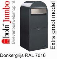 Brievenbus Bobi Jumbo donkergrijs RAL 7016