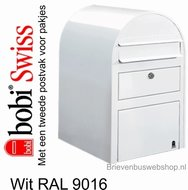 Brievenbus Bobi Swiss wit RAL 9016