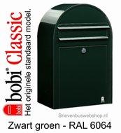 Brievenbus Bobi Classic zwartgroen RAL 6064