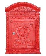brievenbus antiek rood
