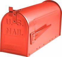 Amerikaanse-brievenbus-staal-rood