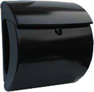 zwarte brievenbus kunststof
