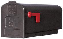 amerikaanse brievenbus zwart kunststof