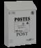 brievenbus post kaart wit