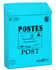 Brievenbus post kaart blauw